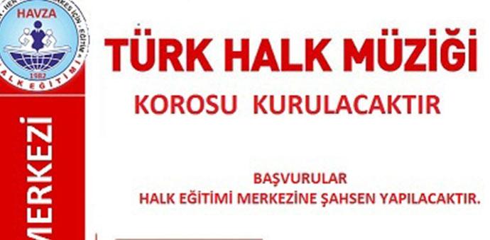 Halkın Katılımı İle Türk Halk Müziği Korosu Kurulacak