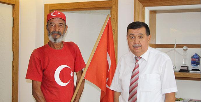 63'lük Osman Koç, şimdi de Ankara'ya yürüyor