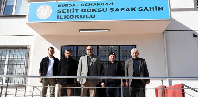 Afrin Şehidi Göksu Şafak Şahin'in Adı Bursa'daki İlkokulda Yaşatılıyor