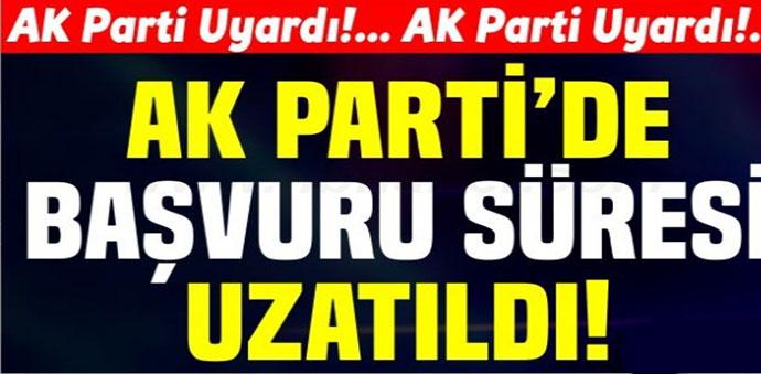 AK Parti'de Belediye Meclis Üyeliğine 23 Müracaat