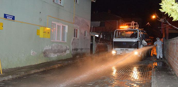 Ana Cadde ve Bağlantı Yolları Dezenfekte Edildi