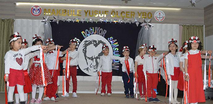 Anaokulu Öğrencilerinde 100. Yıl Özel Etkinliği