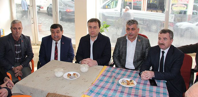 Başkan Adayı Özdemir'den Muhtarlara Ziyaret