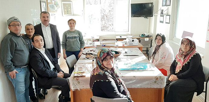 Başkan Özdemir'den Engelli Koordinasyon Merkezine Ziyaret
