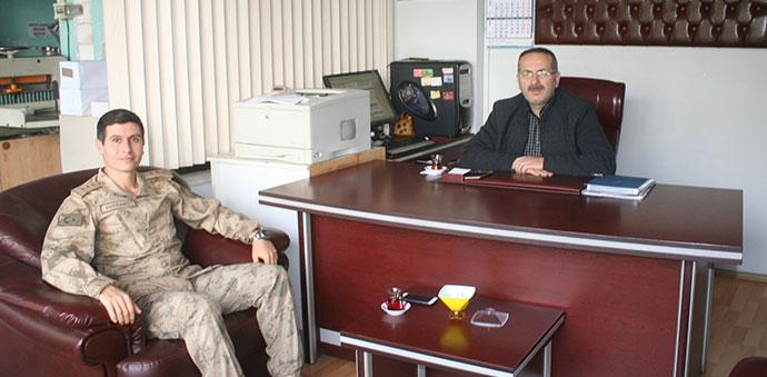 Bölük Komutanı Gazetemizi Ziyaret Etti