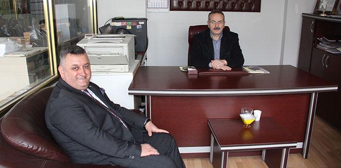 DP Belediye Başkan Adayı Saat'ten Gazetemize Ziyaret