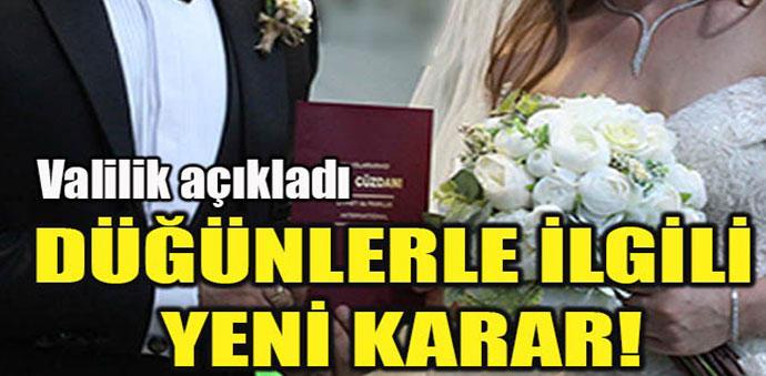 Düğünlerle İlgili Yeni Kararlar Açıklandı