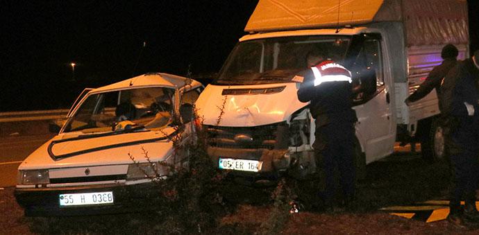 Ereli Kavşağında Trafik Kazası 3 Yaralı