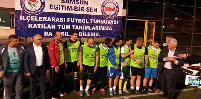 Futbol Turnuvasının Şampiyonu Havza Eğitim Bir Sen