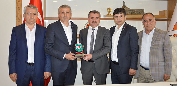 Gazilerden Başkan Özdemir'e Ziyaret