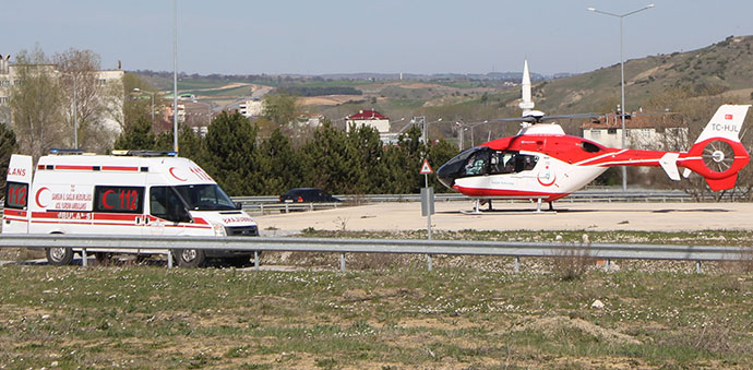 Hava Ambulansı İle Sevk Edildi