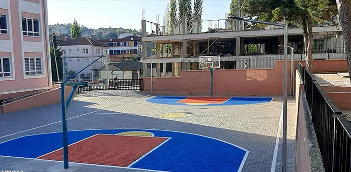 Havza 25 Mayıs İlkokuluna Basketbol Ve Voleybol Sahası