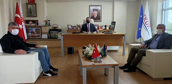 Havza Belediye Başkanı Özdemir Ve TSO Başkanı Acar'dan TKDK'ya Ziyaret