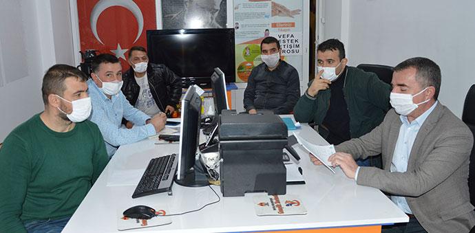 Havza Belediye Başkanı Sebahattin Özdemir'in Vefa Birimini Ziyaret Etti