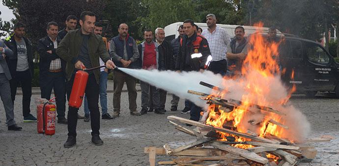 Havza Belediyesinde Yangın Eğitimi Ve Tatbikatı