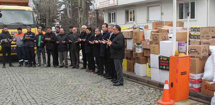 Havza Belediyesinden Depremzedelere Yardım