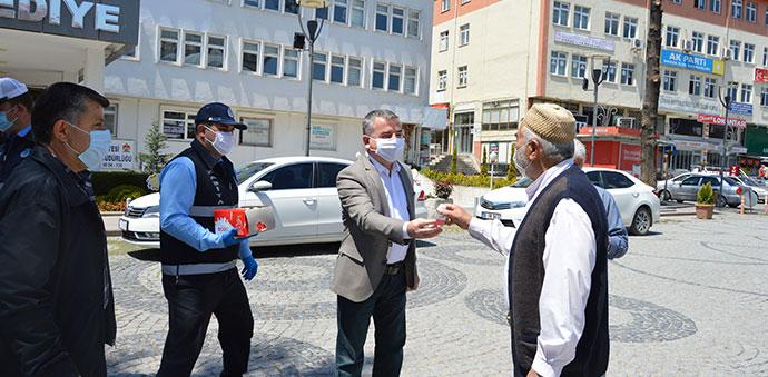 Havza Belediyesinden 65 Üstüne Milli Borel Ve Maske
