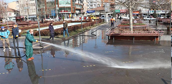 Havza Belediyesinden Temizlik Ve Dezenfekte Çalışması