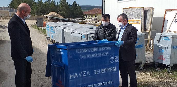 Havza Belediyesine 100 Adet Çöp Konteynırı Geldi