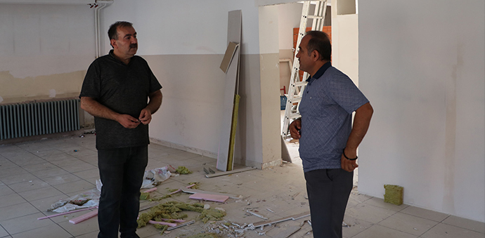 Havza' da Elektronik Sınav Merkezi Çalışması