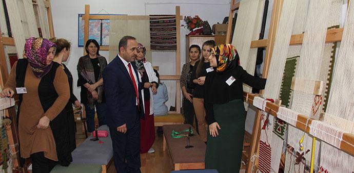 Havza Halk Eğitim Merkezi Kurslarına Ziyaret