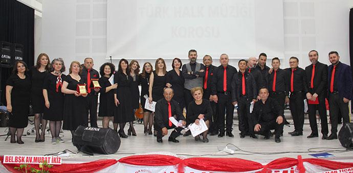 Havza Halk Müziği Korosu İlk Konserini Düzenledi.