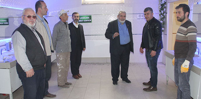 Havza Kevser Camii Şadırvan Ve Tuvaletleri Bakım Yapılıyor