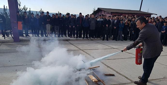 Havza MTAL'de Yangın Tatbikatı Yapıldı