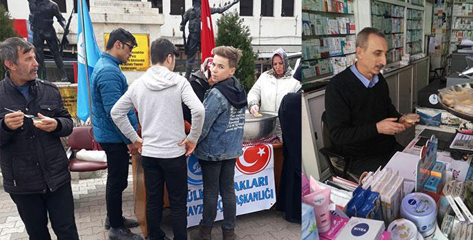 Havza Ülkü Ocakları Şehitler İçin Helva Dağıttı
