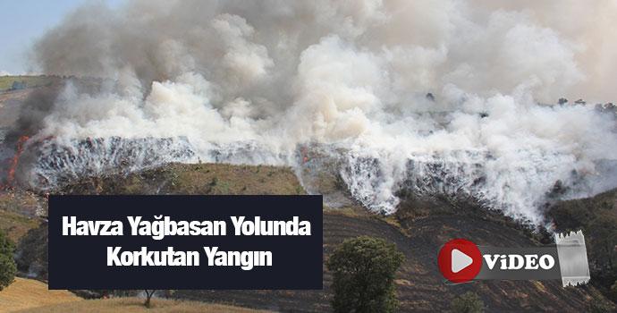 Havza Yağbasan Yolunda Korkutan Yangın-video