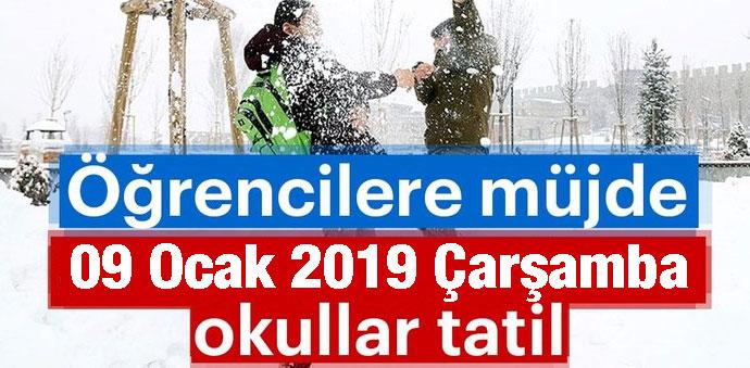 Havza'da 09. Ocak 2019 Kar Tatili