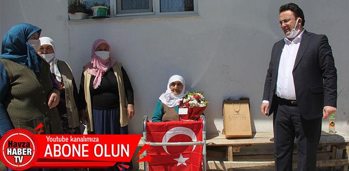 Havza'da 100 Yaş Üstü Ve Şehit Annelerinin Anneler Günü Kutlandı
