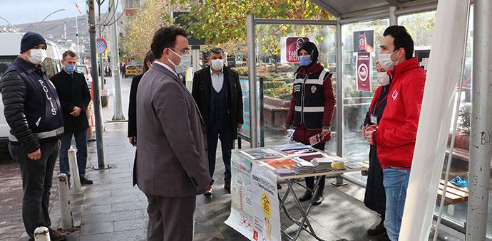 Havza'da 25 Kasım Kadına Yönelik Şiddetle Mücadele Günü standı