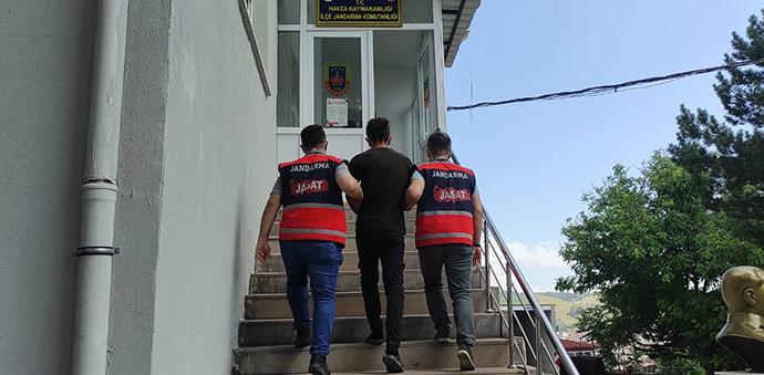Havza'da 3 Yıl 9 Ay Hapis Cezası Bulunan Şahsı Yakaladı