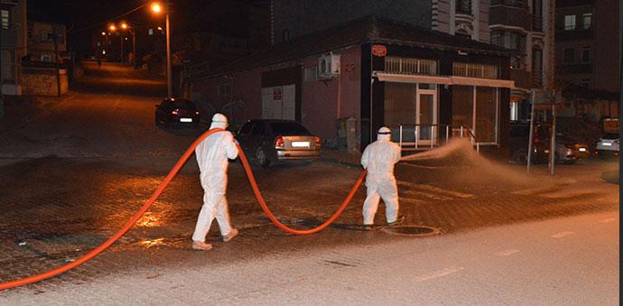 Havza'da 4 Mahalle Daha Dezenfekte Edildi