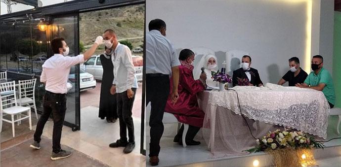 Havza'da Düğün Salonlarında Düğünler Yapılmaya Başladı