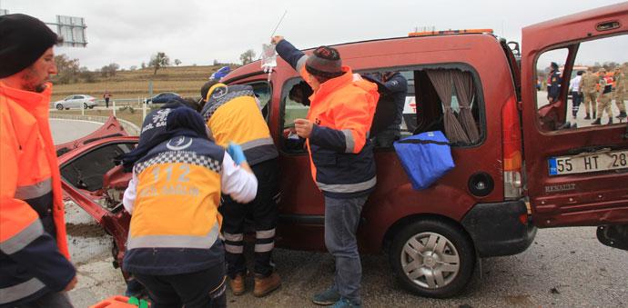 Havza'da Feci Kaza, 1 Ölü 7 Yaralı