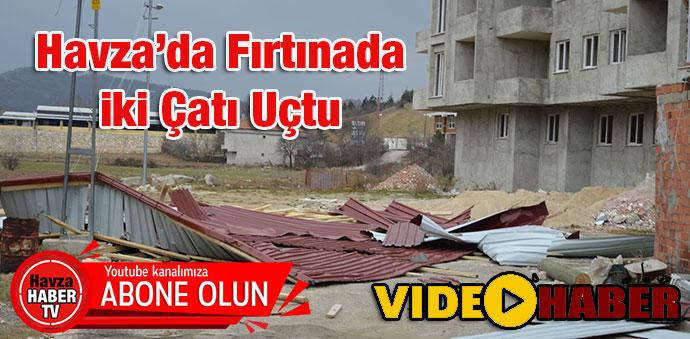 Havza'da Fırtınada İki Çatı Uçtu- Video Haber