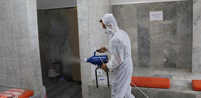 Havza'da Hizmet Vermeye Başlayan Kaplıcalar Dezenfekte Edildi