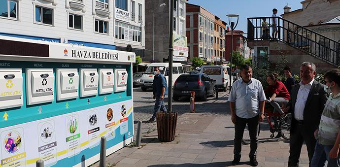 Havza'da İki Adet Mobil Atık Getirme Merkezi Oluşturuldu