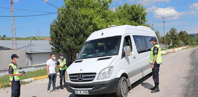 Havza'da Jandarma Trafikten Sivil Denetim
