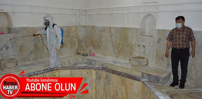 Havza'da Kaplıca İşletmeleri Dezenfekte Edildi