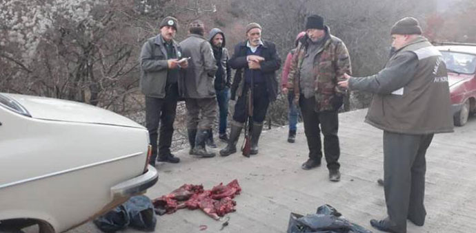 Havza'da Karaca Avı Yapan Şahıslar Yakalandı