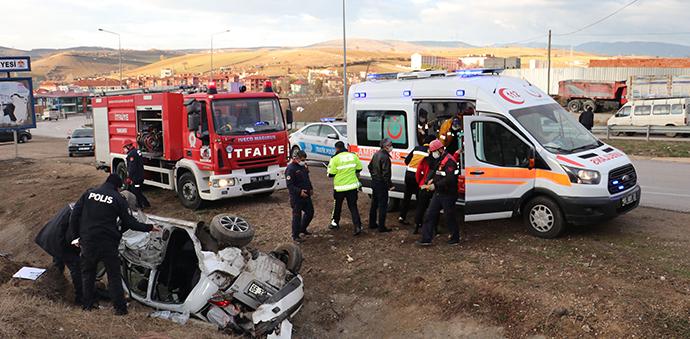 Havza'da Kaza 1 Ölü 3 Yaralı