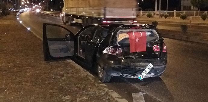 Havza'da Kaza 4 Yaralı