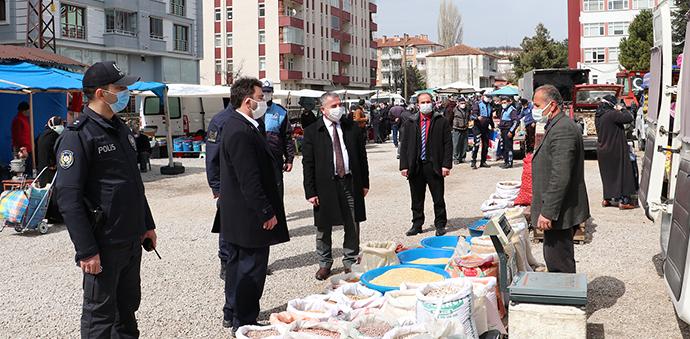 Havza'da Kovid-19 Kapsamında Pazar Yerinde Denetim Yapıldı
