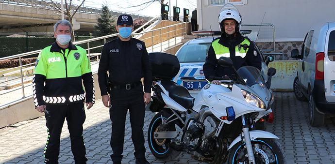 Havza'da Motosikletli Trafik Polisi Şahin Timi Göreve Başladı