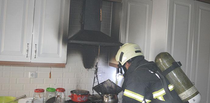 Havza'da Mutfak Yangını