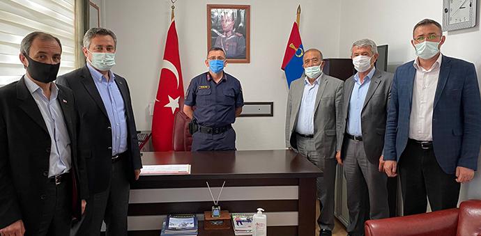 Havza'da Oda Başkanlarından Jandarmaya Kutlama Ziyareti
