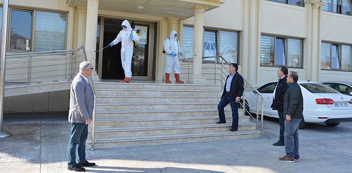 Havza'da Okul Binalarında Dezenfekte Çalışmaları